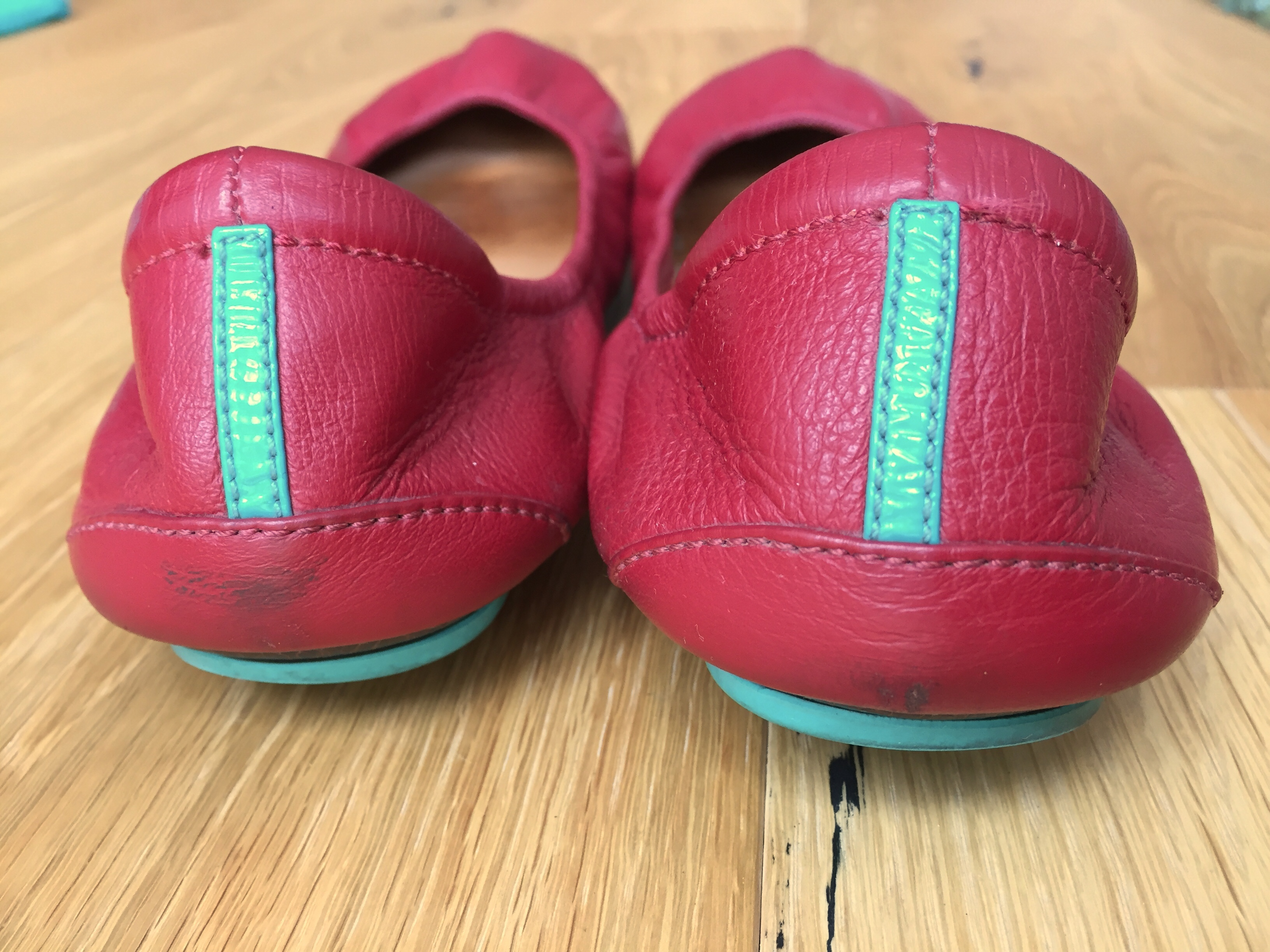 Tieks Review - Cardinal Red