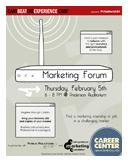 Career Center Marketing Forum Flier