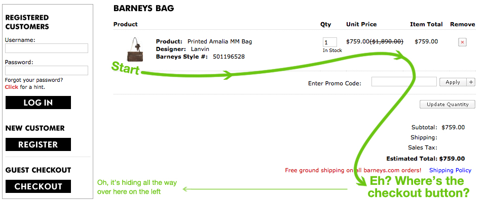 Barneys Shopping Bag Online