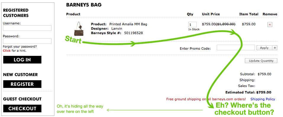 Barneys Shopping Bag Online