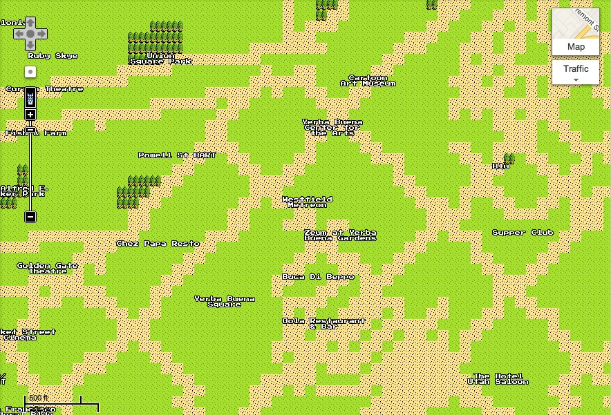 April Fools&#039; Google Maps 8-Bit Quest