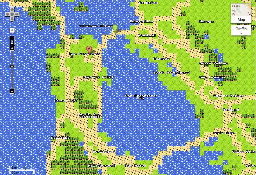 April Fools' Google Maps Quest San Francisco