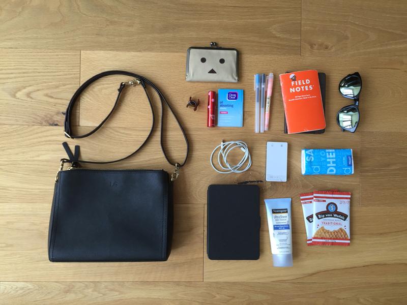How I Pack My Lo & Sons Saffiano Pearl Crossbody