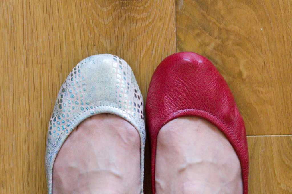 Comparing Tieks With and Without Moleskin