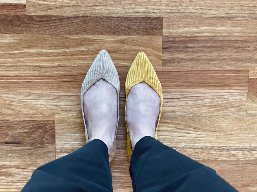 Rothy's Wool vs Recycled Flats Sizing