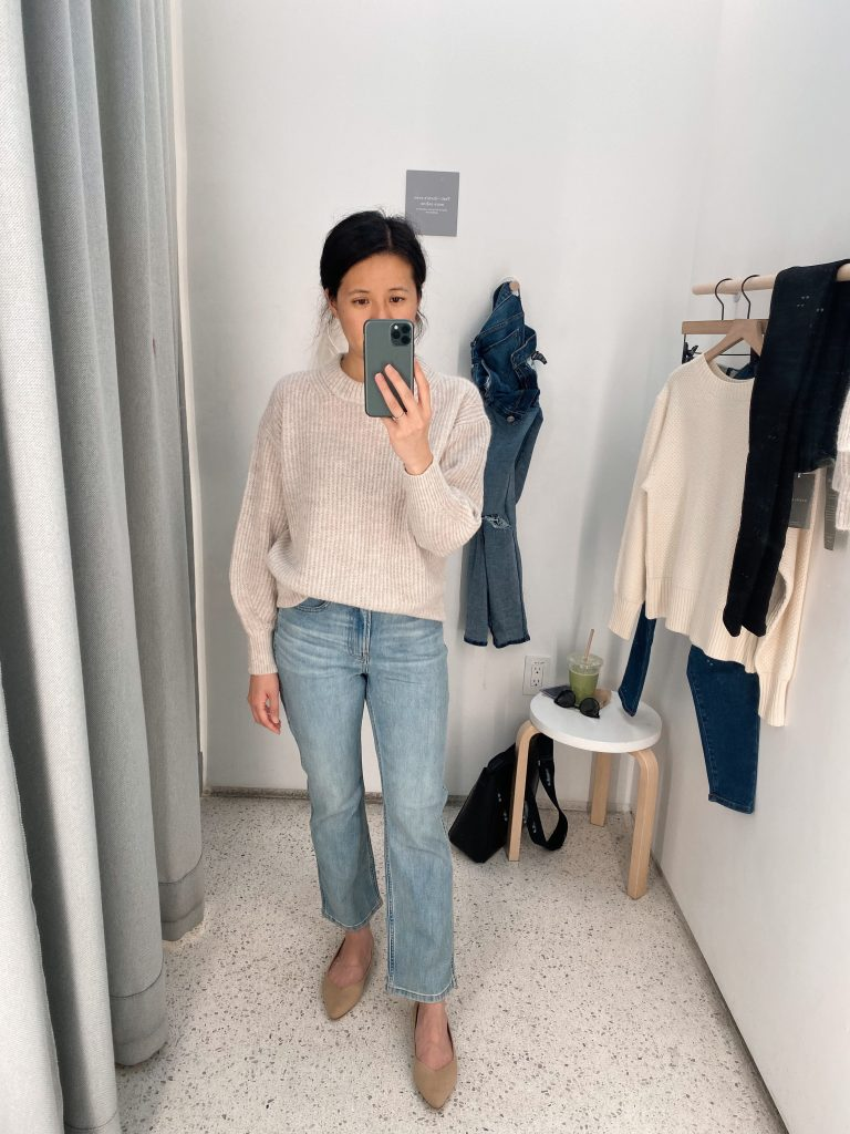 Everlane Alpaca Crew Sweater & Cheeky Bootcut