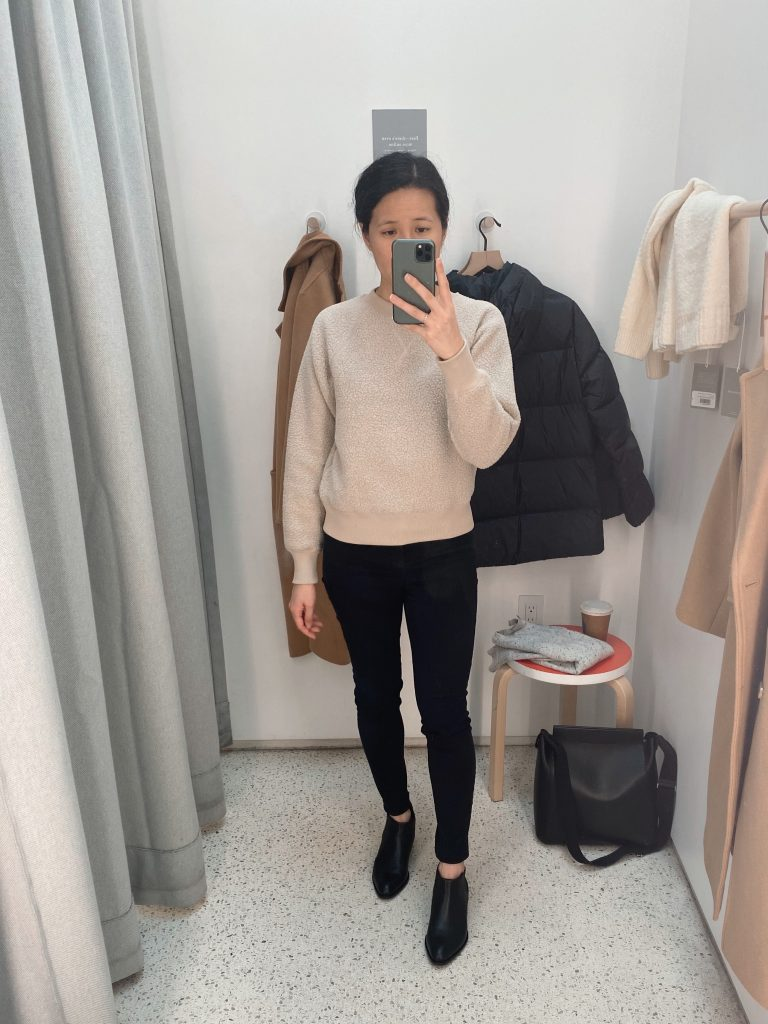 Everlane ReNew Fleece Raglan Sweatshirt