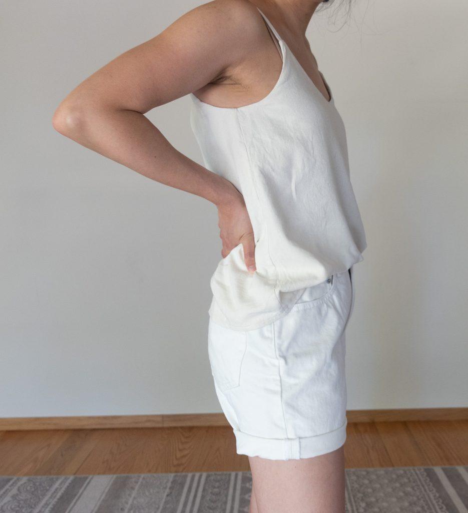 Everlane Denim Short in Bone - Side