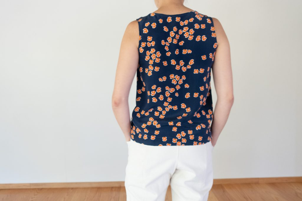 Willow Tank in Silk - Back