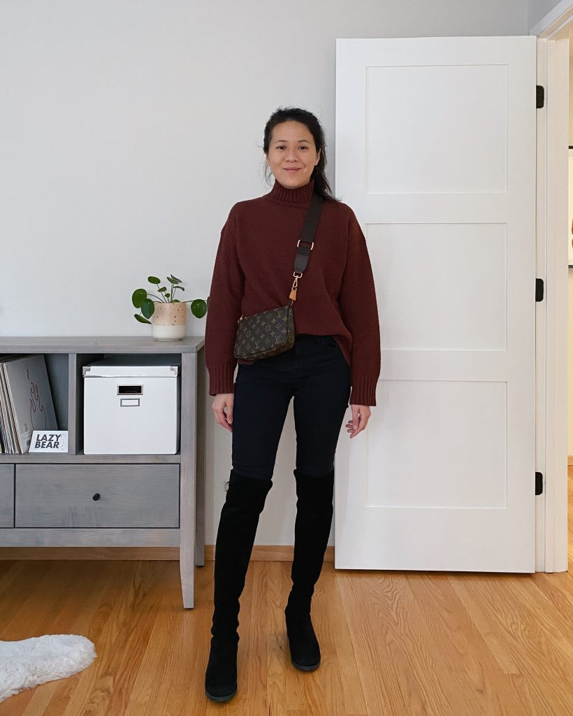 Everlane ReCashmere Stroopwafel Sweater Outfit
