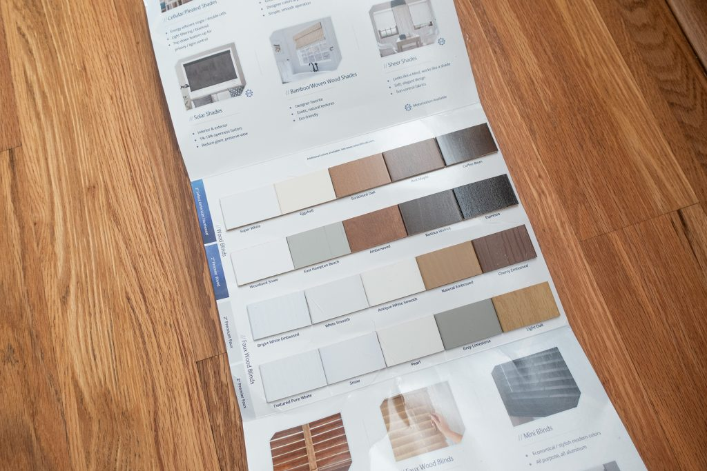 Select Blinds Faux Wood Sample Booklet