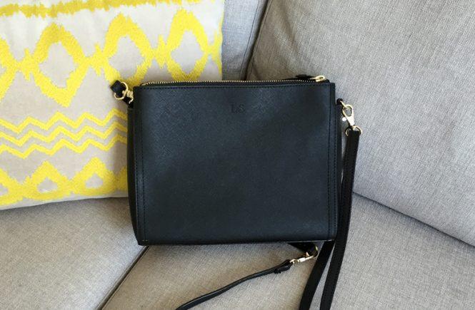 Lo & Sons Pearl Crossbody in Saffiano Leather