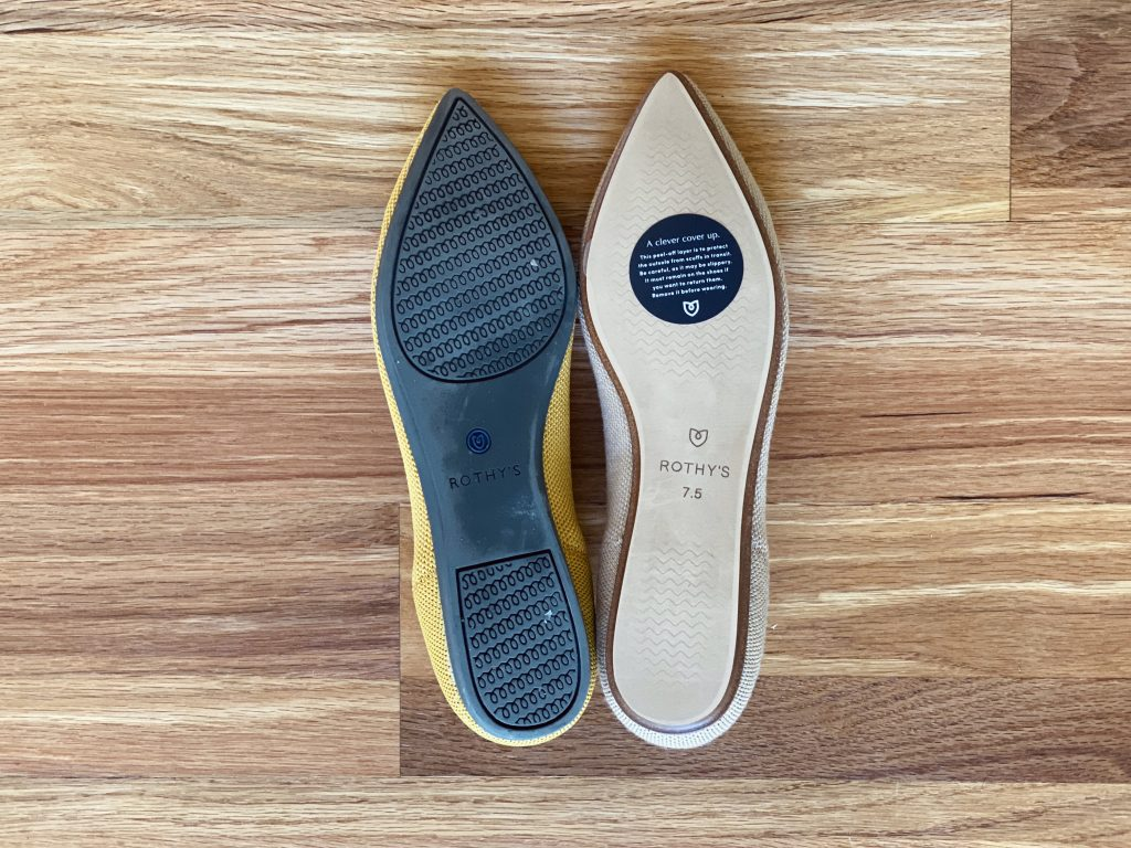 Rothy's Wool vs Recycled Flats Soles