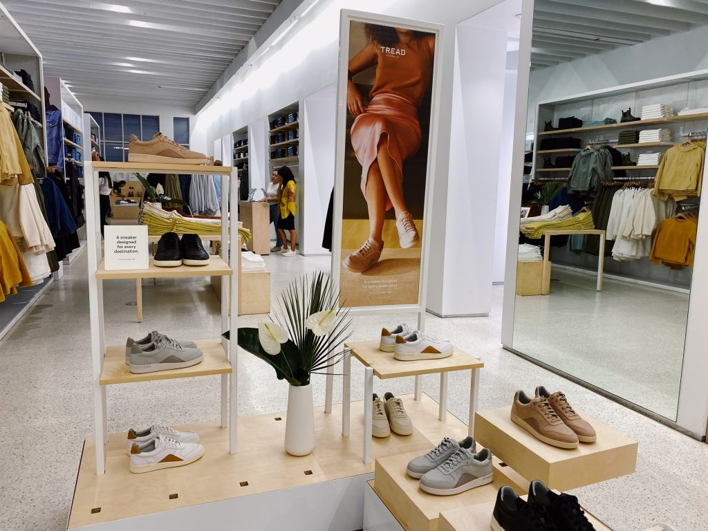 Everlane Court Sneaker Display in San Francisco
