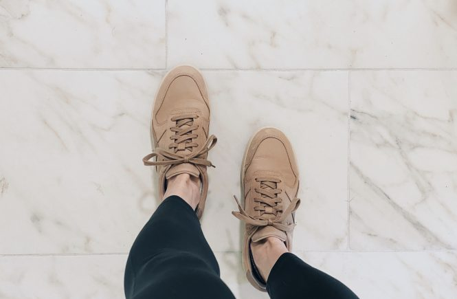 Everlane Court Sneaker Review Dusty Rose