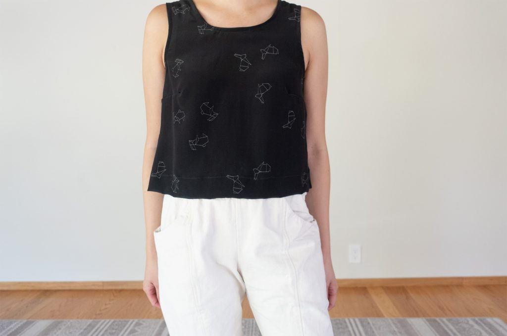 Willow Silk Cropped Tank