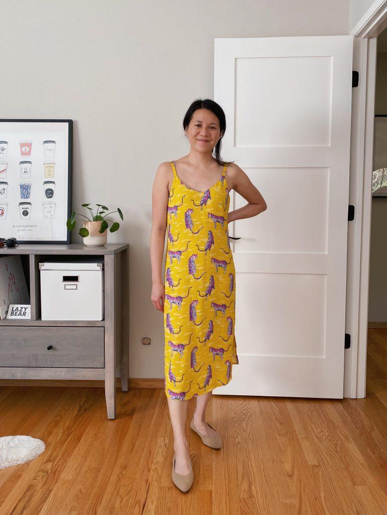 Ogden Cami Slip Dress - Rayon Ruby Star Tiger Fly