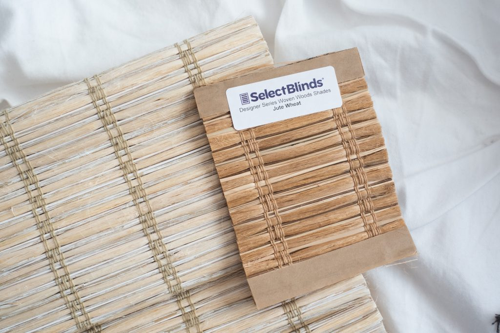 Select Blinds Jute Natural vs Jute Wheat