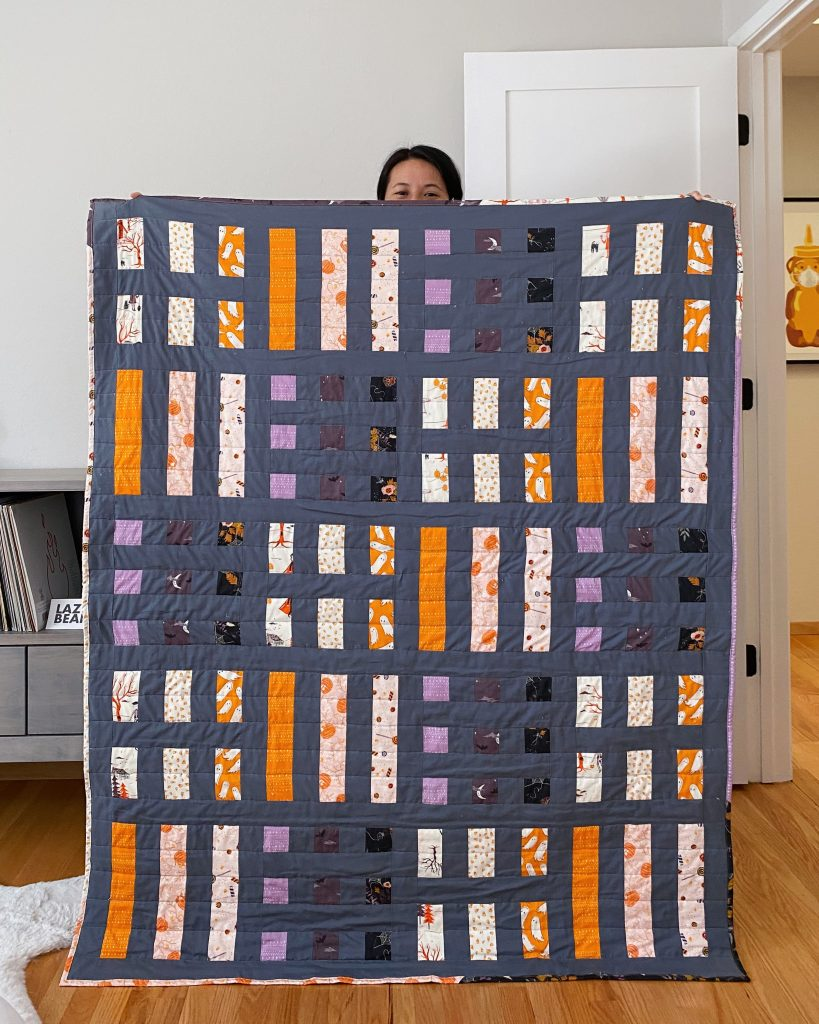 Dot and Dash Quilt - Art Gallery Fabric AGF Spooky n Sweet
