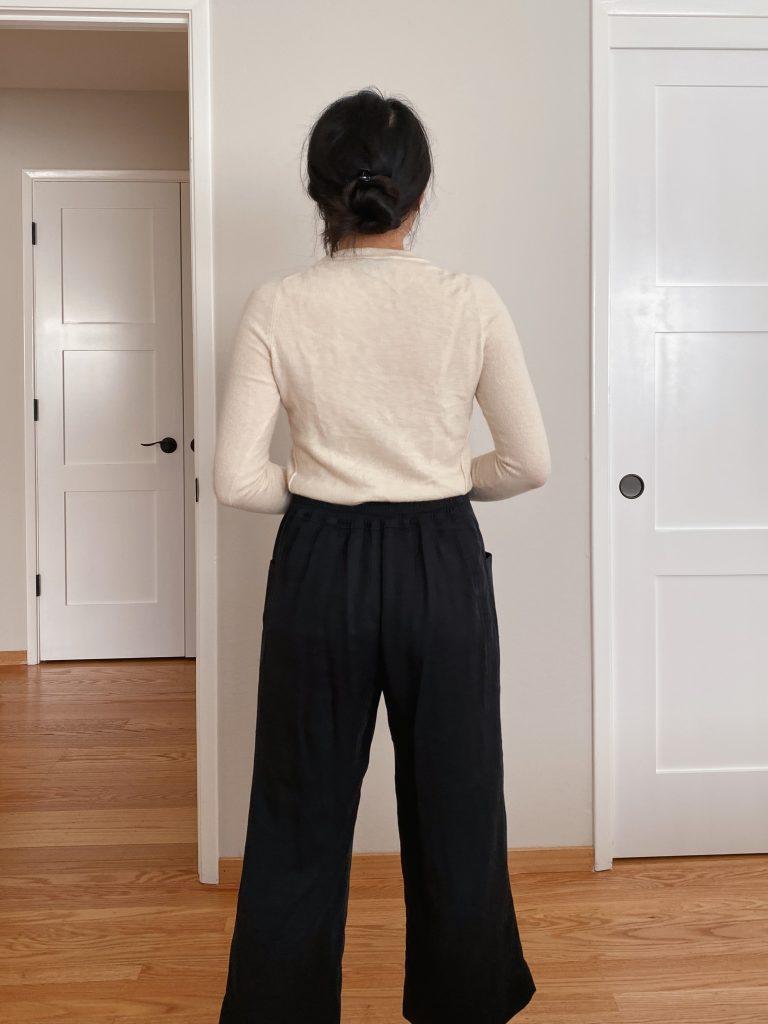 Pietra Pants View A - Wide Leg Back